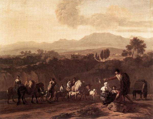 Landscape in the Roman Campagna